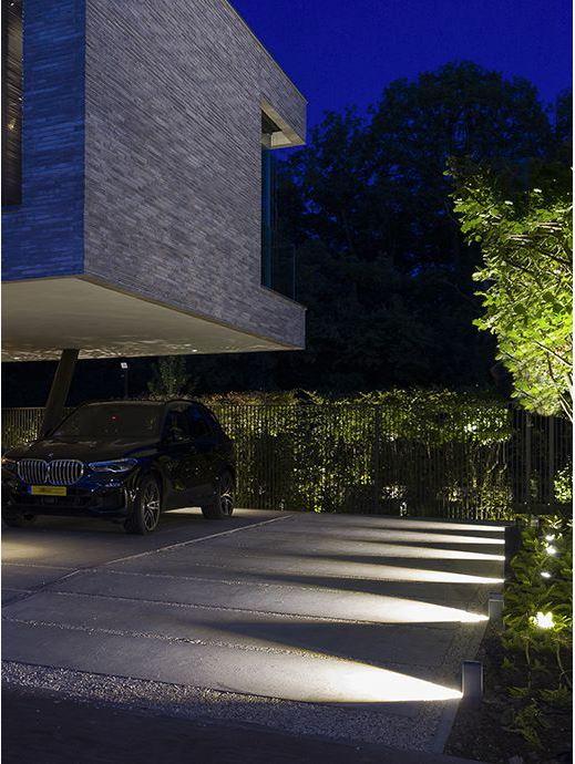 oświetlenie ogrodowe ace flat grey refelktory